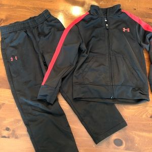 Under Armour, boys track suit. Size 4